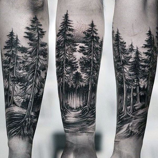 73 Impressive Forearm Tattoo Design   Best Forest tattoo arm ...