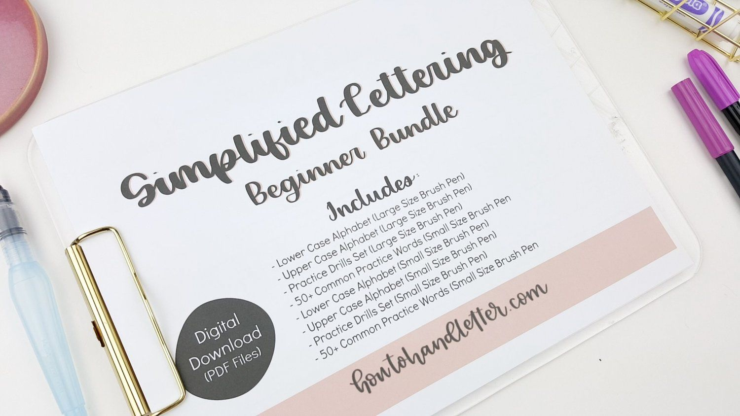 Simplified Handlettering For Beginners