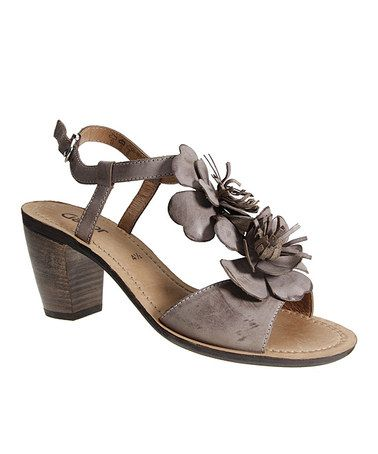 1b71a3c1ced Take a look at this Gray Floral Sandal by Gabor on  zulily today ...