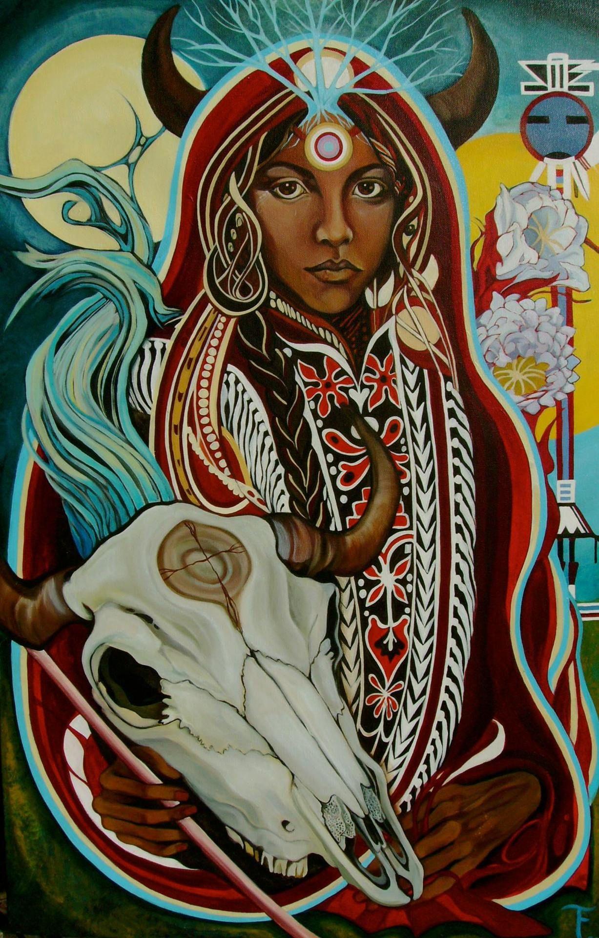 White Buffalo Calf Woman Wakan Tanka, world spirit of the Sioux ...