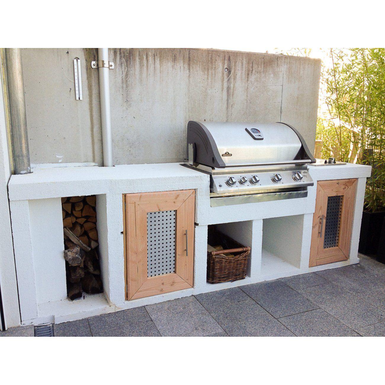 Inspiration: Moderne Outdoorküche im Garten mit Napoleon Gas ...