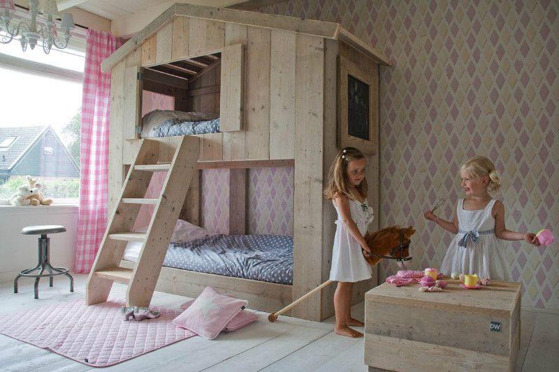 Etagenbett Landhausstil : Bauholz hochbett landhausstil möbel in weiß bei möbelhaus