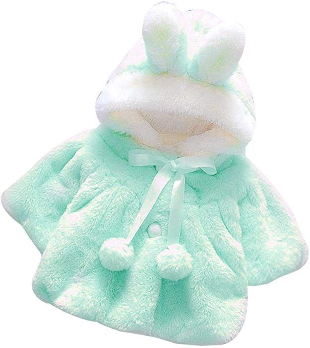 2297209e9 Amazon.com  Muxika Dinlong Fashion Baby Girl Fur Winter Warm Coat Cloak  Jacket Thick