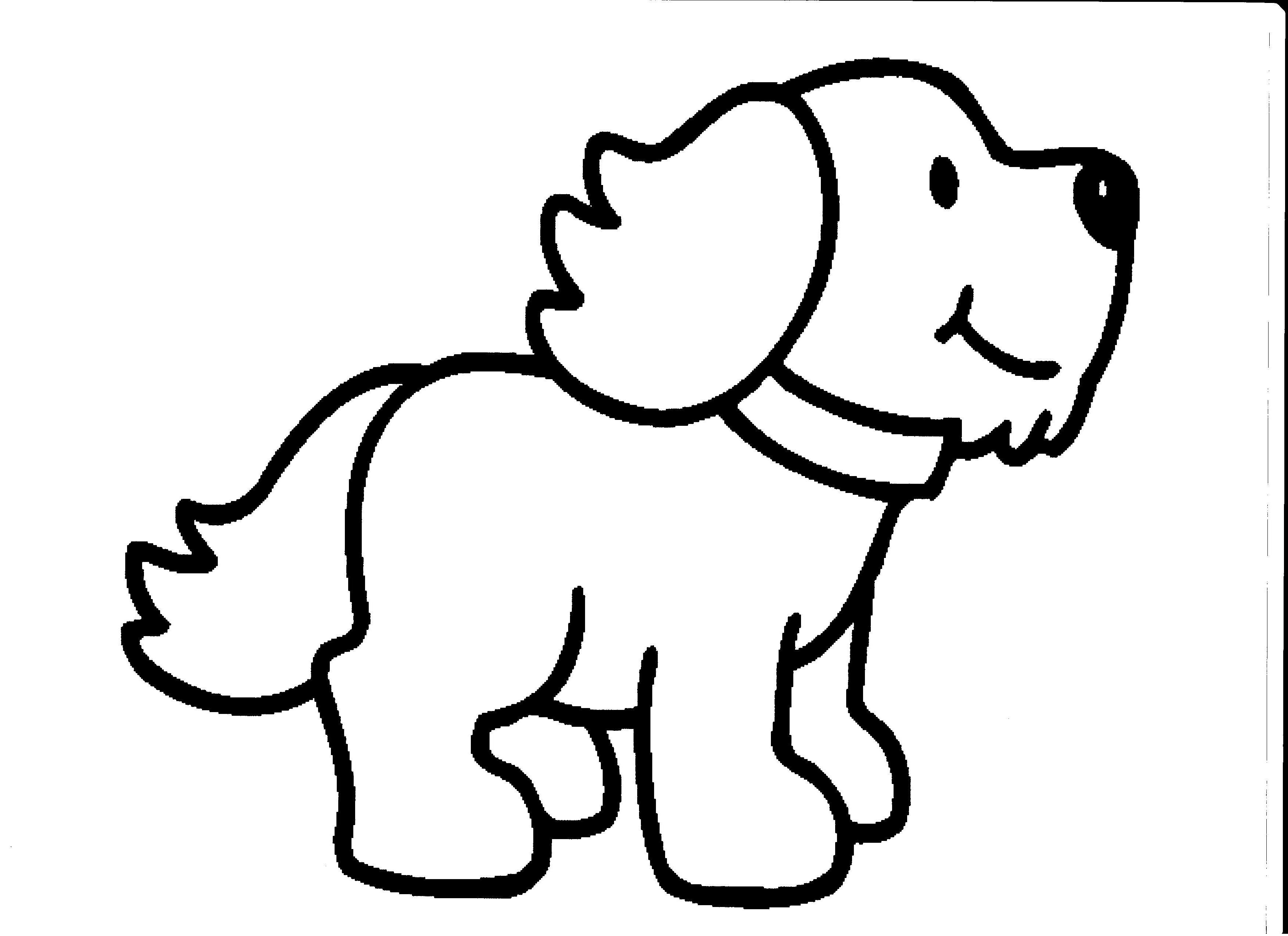 Line Drawing Of Cute Dog