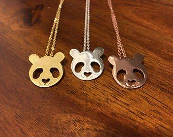 b8e6907c4 Panda - Panda Necklace - Panda Jewelry - Panda Charm - Gold Panda - Silver  Panda