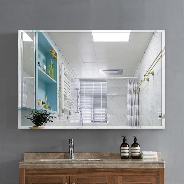 Neu Type Rectangle Simple Large Beveled Glass Wall Mounted Hanging Vanity Mirror In Bathroom Jj00504zzz The Home Depot In 2020 Bathroom Mirror Mirror Wall Bathroom Contemporary Bathroom Mirrors