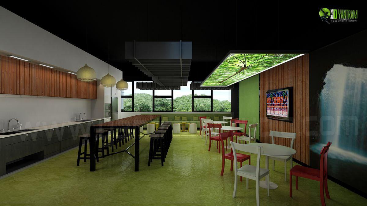 3d office design. #Office 3D #InteriorDesign Break Out #Modern Office Design 3d
