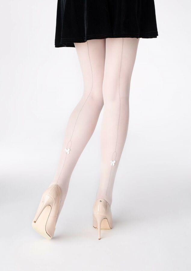 9bb1e894cc232 Patrizia Gucci for Marilyn Backseam Bow Pantyhose White Cream Wedding  Hosiery SM#Backseam#Bow#Marilyn