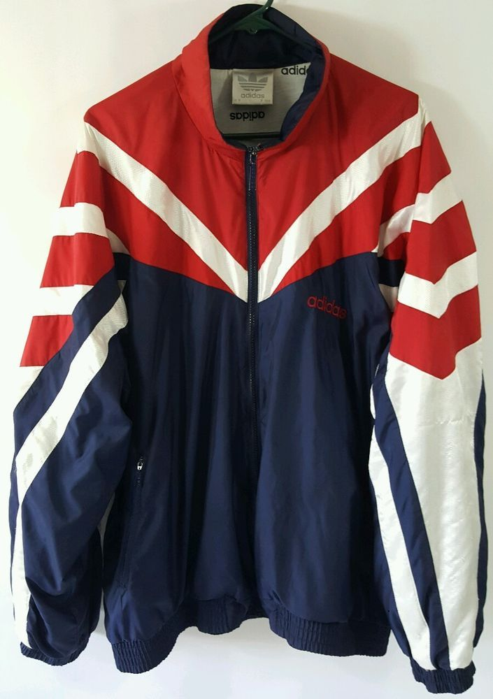Adidas Windbreaker Full Zip XL Olympic USA Colors RETRO Vintage 1990 s  Track   Clothing, Shoes   Accessories, Vintage, Men s Vintage Clothing    eBay! 06be93347f