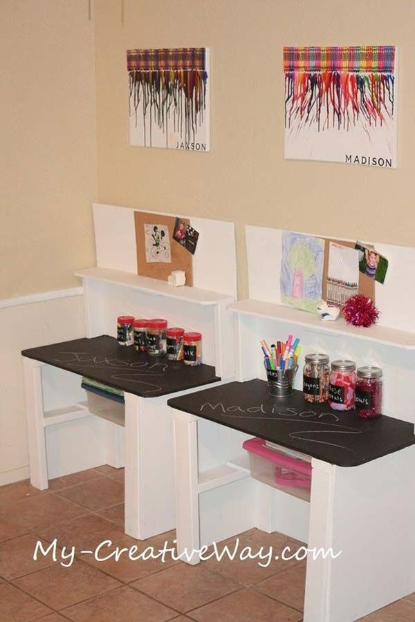 Decent Study Rooms: 24 Adorable And Practica Homework Station Ideas That Your