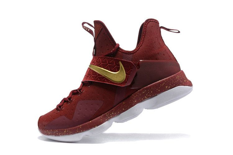 Newest And Cheapest Lebron 14 XIV Cavs Away Burgundy Gold 2017 Lebrons
