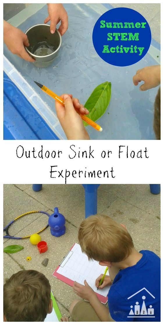 Outdoor sink or float experiment | Learn while you play in the water