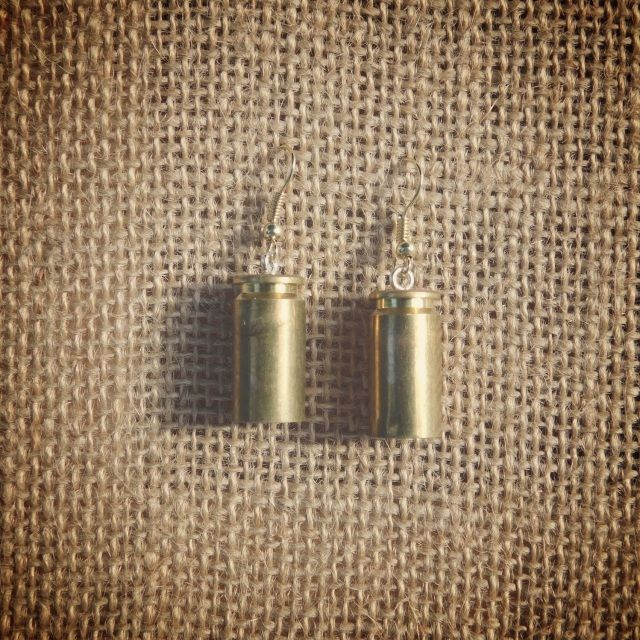 40 Cal Br Earrings Bullets Ammo Jewelry Spent Rounds