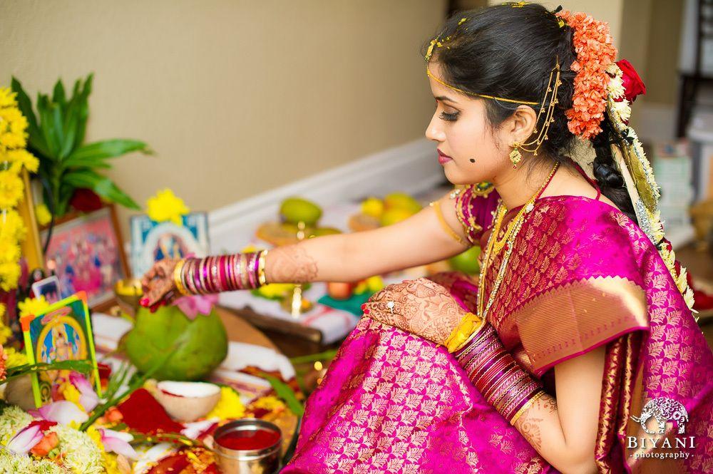 Gods Goddesses Are Worshipped Before The Wedding Ceremony Starts
