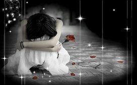 emotionele rose meisje