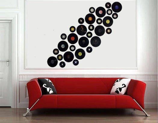 Ideas Para Decorar Con Discos De Vinilo Decoración Estampas Discos De Vinilo Vinilos Para Muebles Decoración De Unas