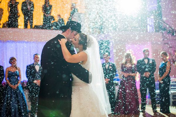 Snow During The First Dance Winter Wedding IdeasWedding