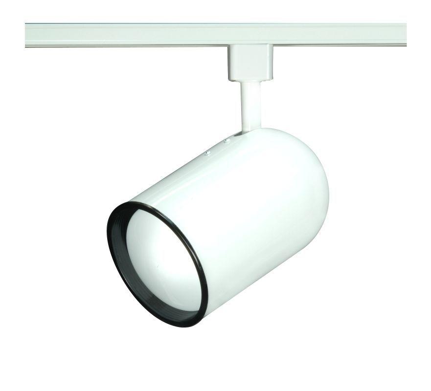 Nuvo Lighting TH210 Single Light R30 Bullet Cylinder Track Head White Indoor Lighting Track Lighting Heads