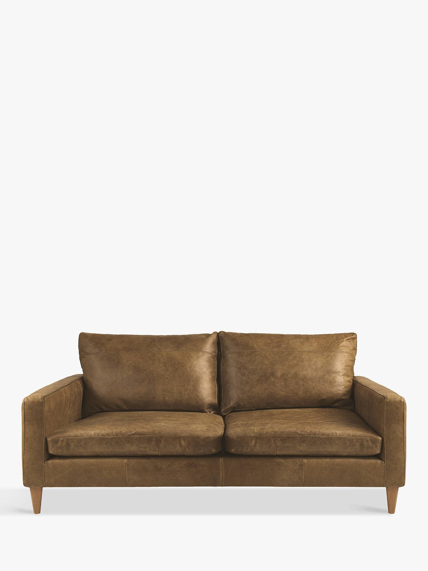 John Lewis Partners Bailey Small 2 Seater Leather Sofa