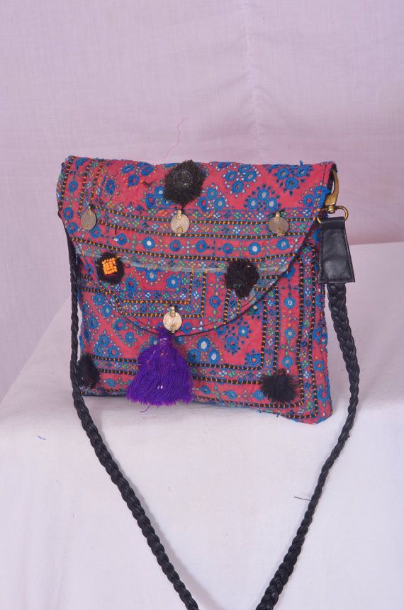 Vintage Indian tribal Banjara messenger bag boho by IndianHippy