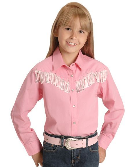 e1d4eb3b0 cowgirl shirts for girls   Cumberland Outfitters Girls' Fringe Western  Shirt - 4-16