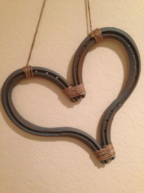 Big Heart Made From Horseshoes By Timmytoescustommetal On Etsy