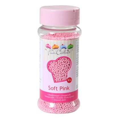 Sprinkle Nonpareil Soft Pink 80g (The English Shop)