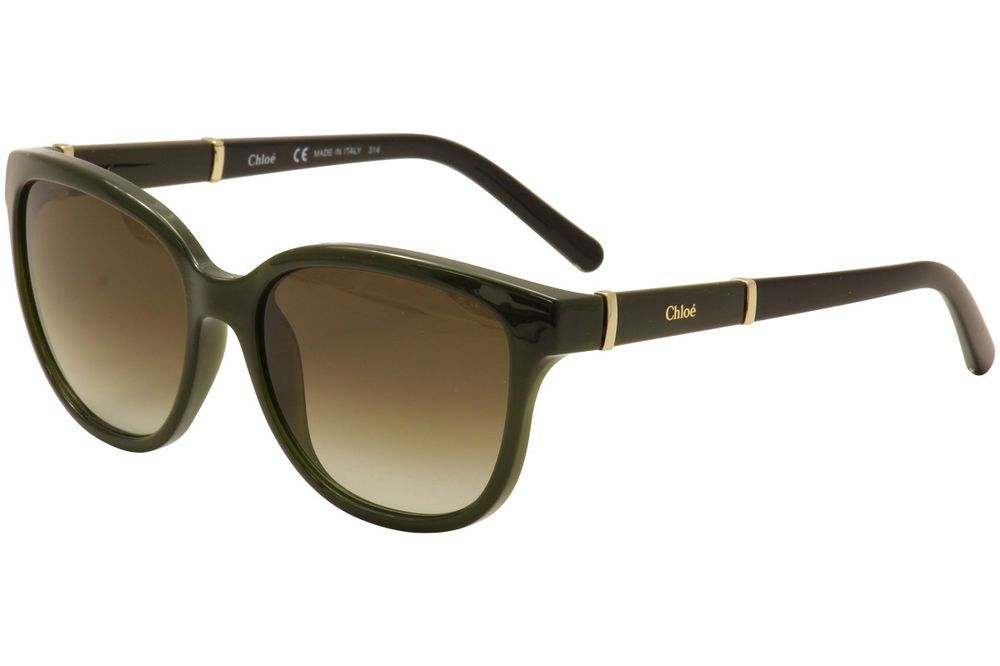 19068153f00 Chloe Women s CE664S CE 664 S 303 Khaki Gold Fashion Sunglasses 54mm ...
