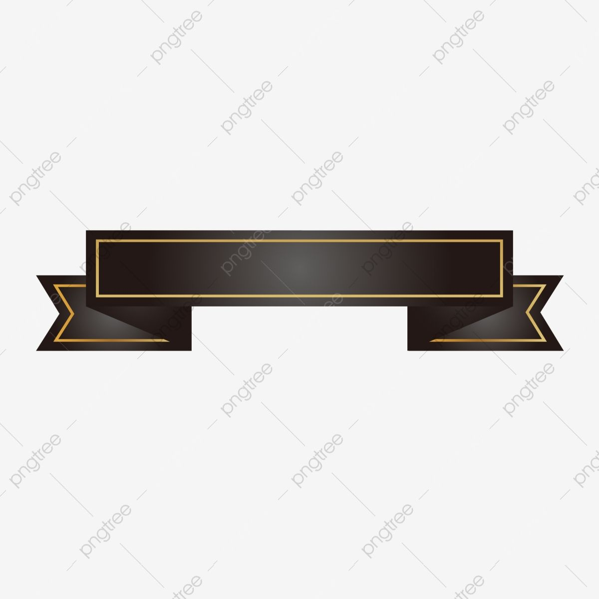 Vector Black Ribbon Banner Title Box Element Vector Black Texture Png And Vector With Transparent Background For Free Download Ribbon Banner Black Ribbon Title Boxing