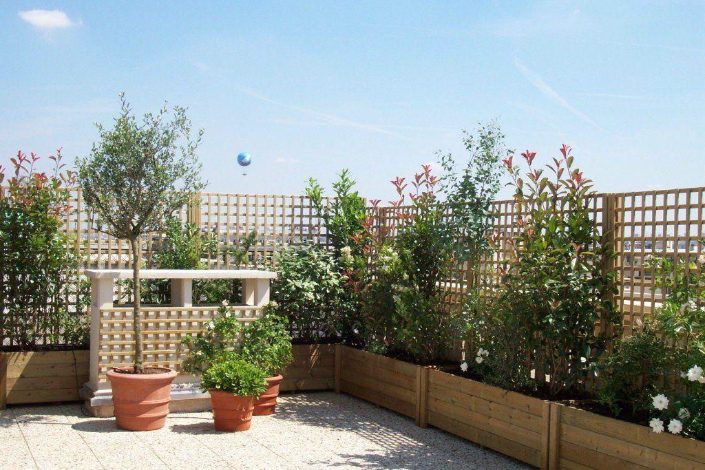 Astuces conseils comment am nager sa terrasse croisillon glycine et jasmin Decorer sa terrasse exterieure