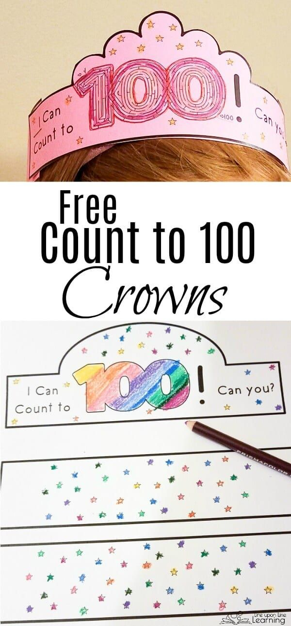 Celebrating Counting with Free Count to 100 Printable Crowns ...