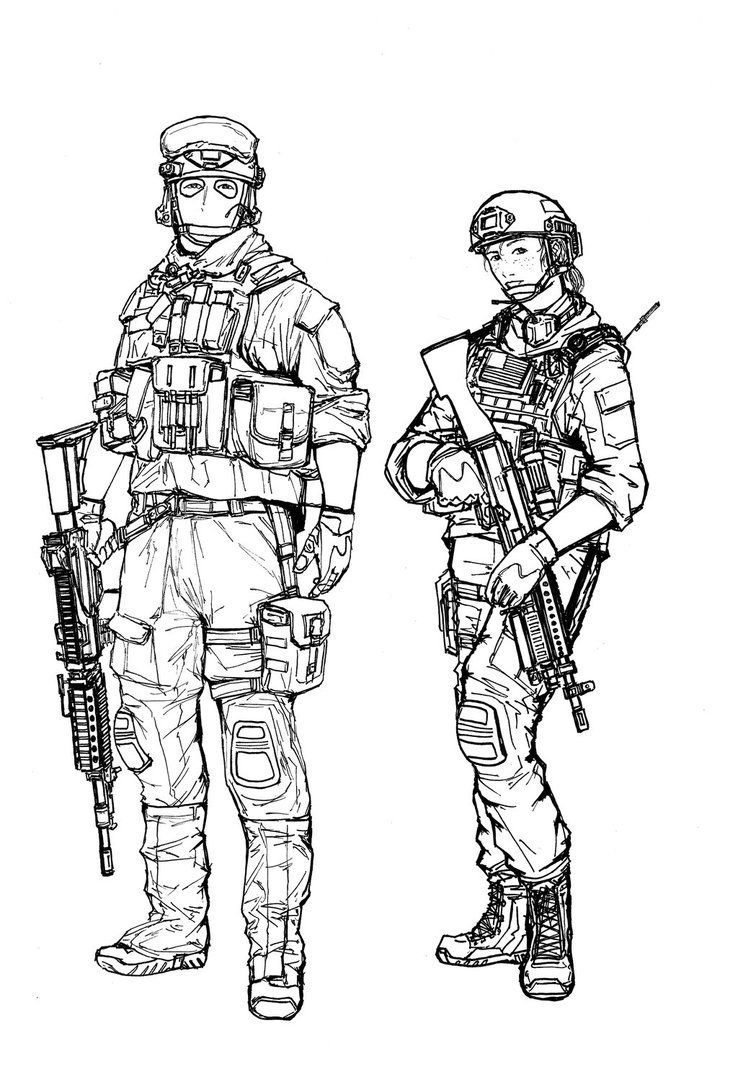 BF4 USMC Support class (line art) by ThomChen114 | Potential ...