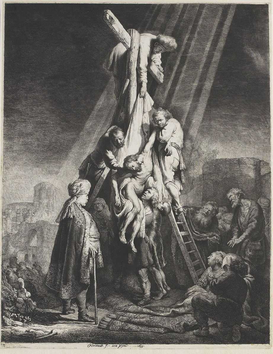 The Descent from the Cross second plate Rembrandt van Rijn