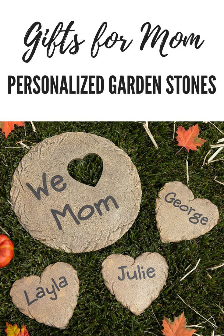 i love the idea of these personalized garden stones as a gift for a mother or even a grandmother giftsformom mothersday affiliate personalized - Personalized Garden Stones