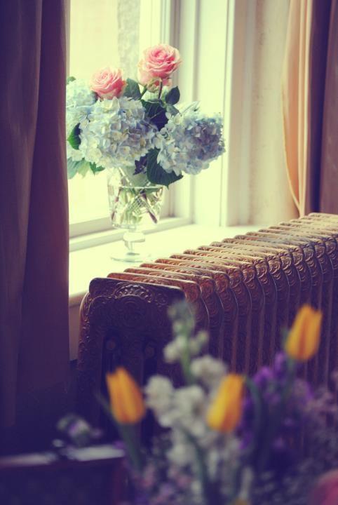 Wildflowers in the windows