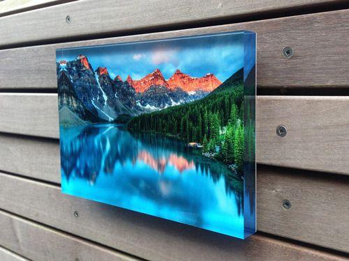 Photo Prints Mounting To Acrylic Plexi Aluminum Bamboo