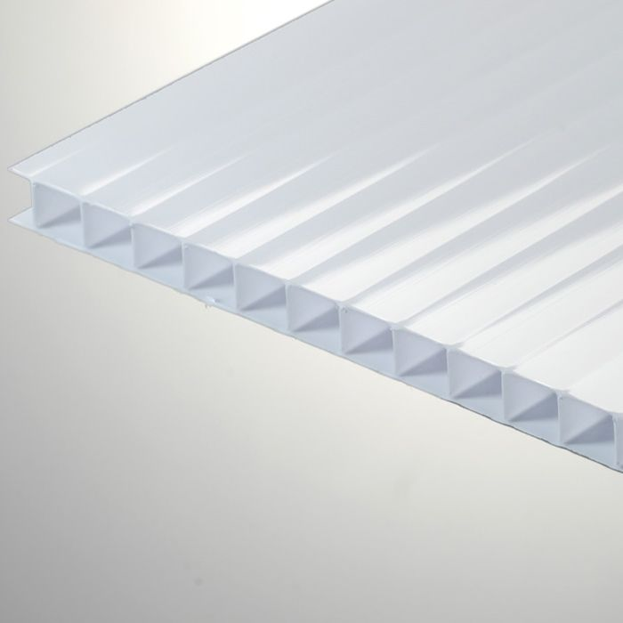 10mm X 48 X 96 White Twinwall Polycarbonate Sheet At Eplastics Polycarbonate Diy Patio Sheet