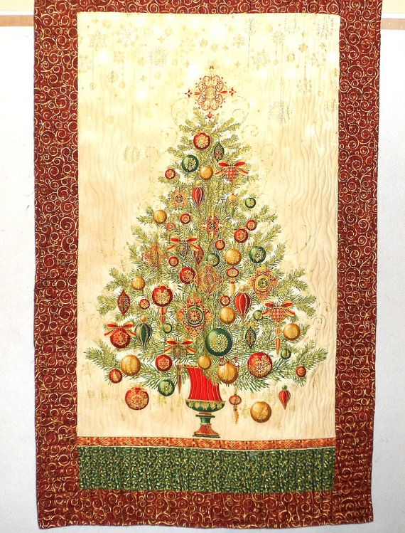 Christmas Wall Hanging Fir Tree Wall Quilt by Quiltwear on Etsy ...