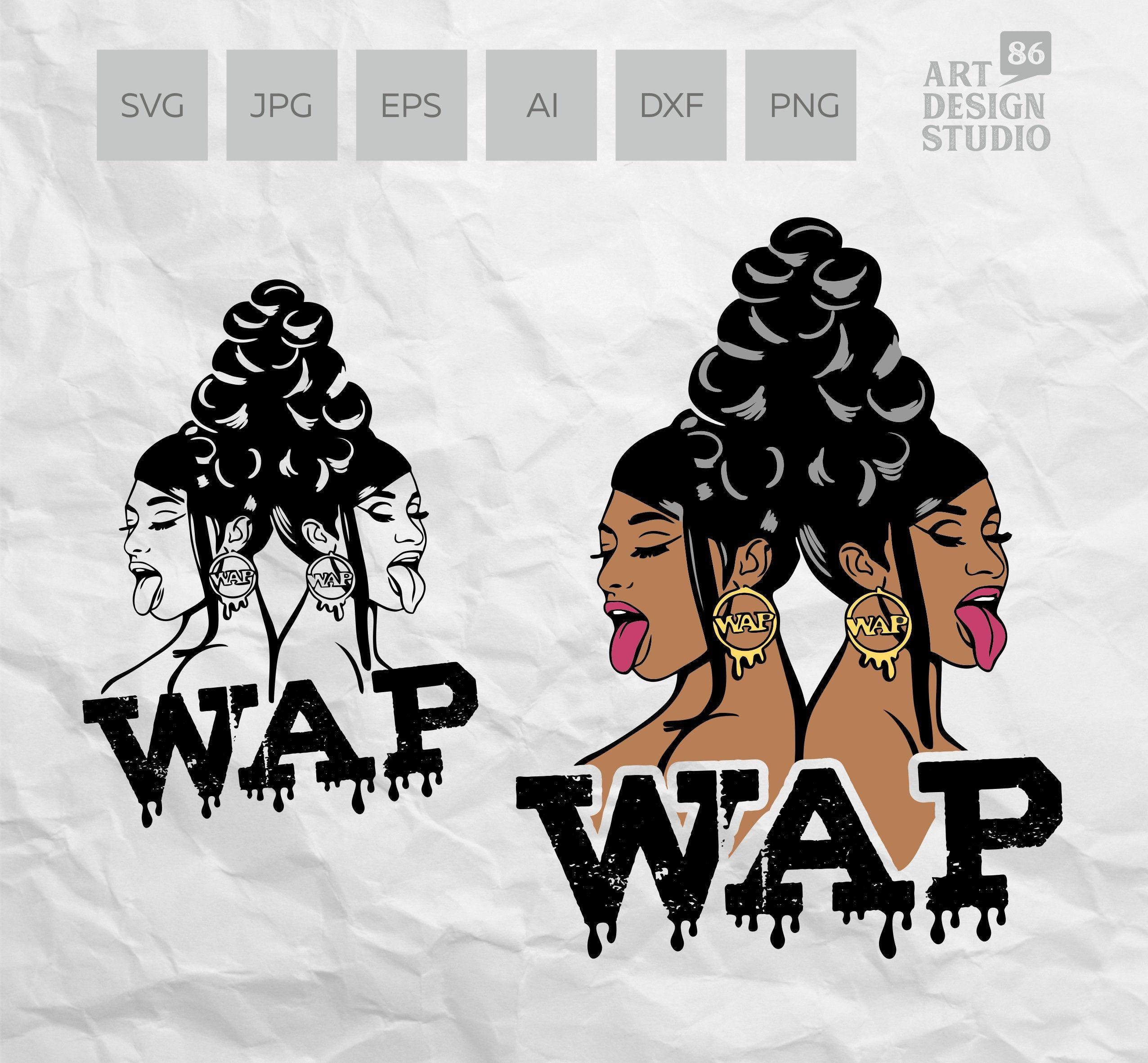 Cardi B Meg Thee Stallion Wap Svg Sut File For Cricut Etsy In 2020 Cardi B Subway Art Printables Cardi B Shirt