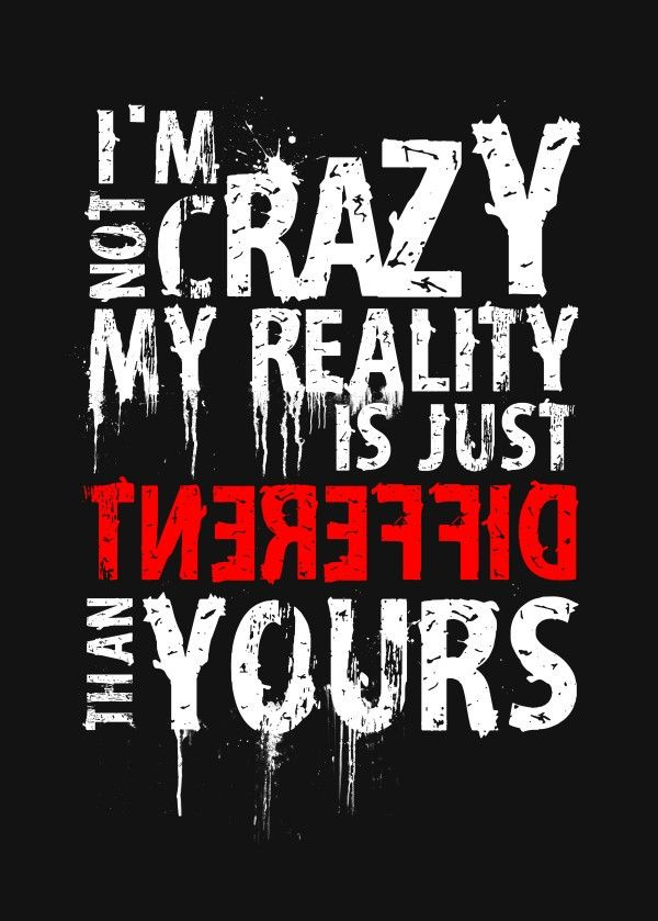 My Reality Text Art Poster Print metal posters Swag