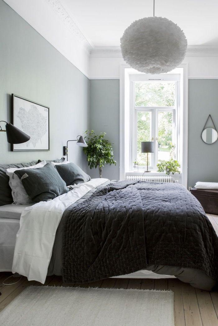 1001 id es comment int grer la peinture vert de gris. Black Bedroom Furniture Sets. Home Design Ideas