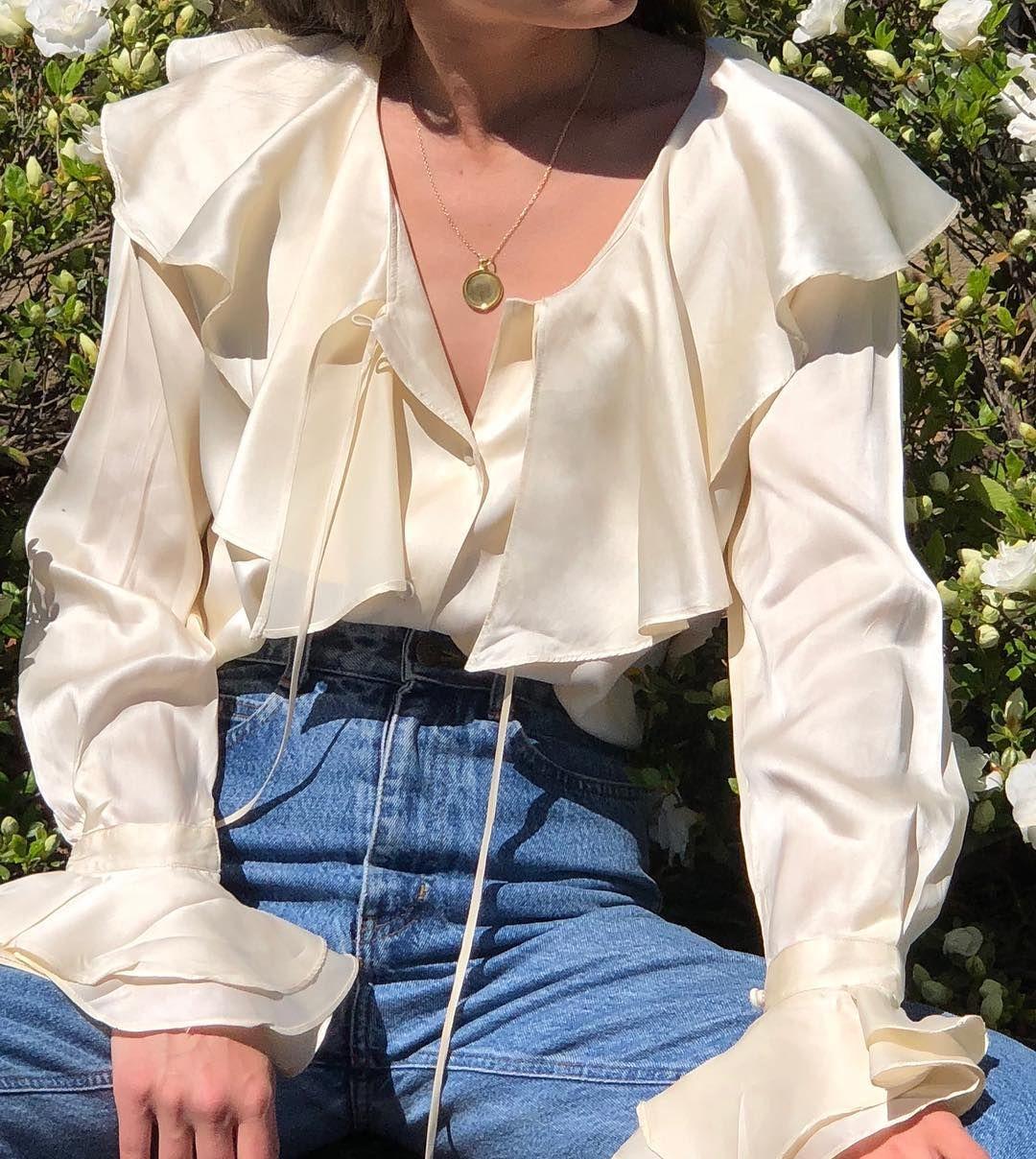 Cream Victorian Poet Eyelet Blouse