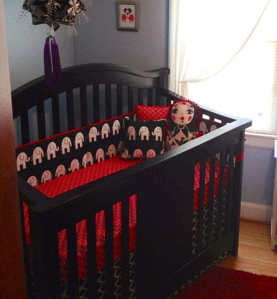 Baby Bedding Crib Set Black By