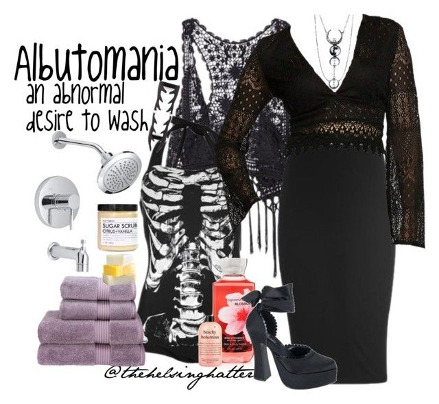 """""""The Diagnosis: Albutomania"""" by thehelsinghatter ❤ liked on Polyvore featuring Christy, Fig+Yarrow and thediagnosis"""
