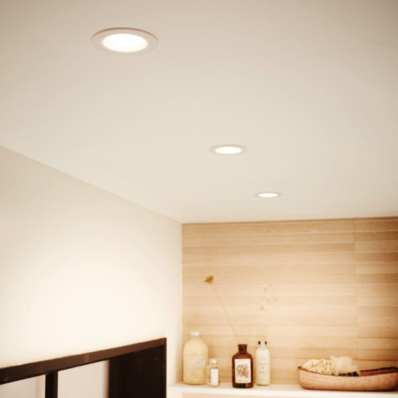 Kit 3 Spots A Encastrer Salle De Bains Rovigo Fixe Inspire Led Integree Blanc Led Spots Et Salle De Bain