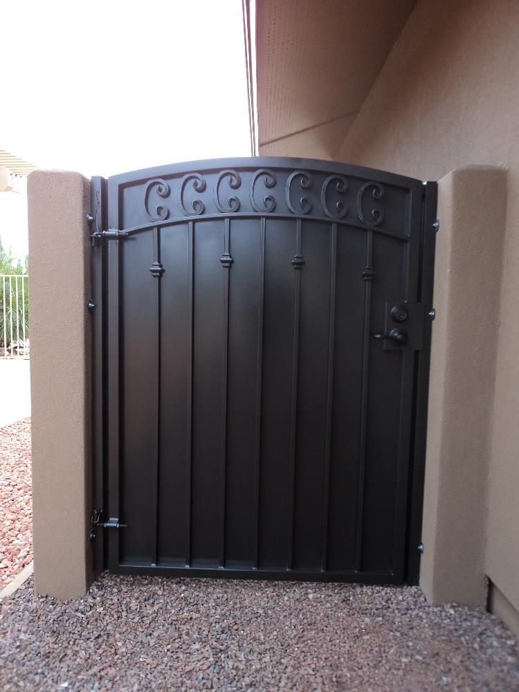 Custom made gate that matches security door by dcs for Door gate design