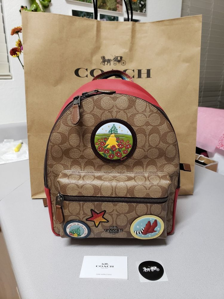 5cb6325d6786 New COACH Signature Charlie Backpack Wizard Of Oz Ruby Slippers Medium NWT   fashion  clothing  shoes  accessories  mensaccessories  bags (ebay link)
