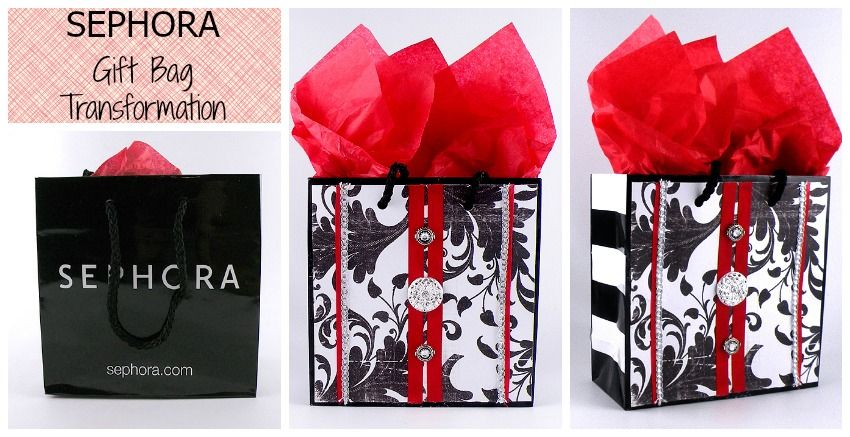 Sephora Gift Bag Transformation Elegant Wring Custom Bags Household Items Ping