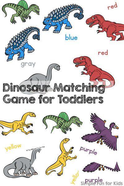 photograph regarding Dinosaur Matching Game Printable named Dinosaur Matching Recreation for Infants Dinosaur Topic