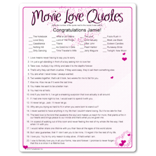 Every woman has their favorite movie love quote, and this